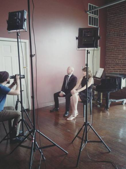 Krommer Double Clarinet Concerto Promo video shoot!